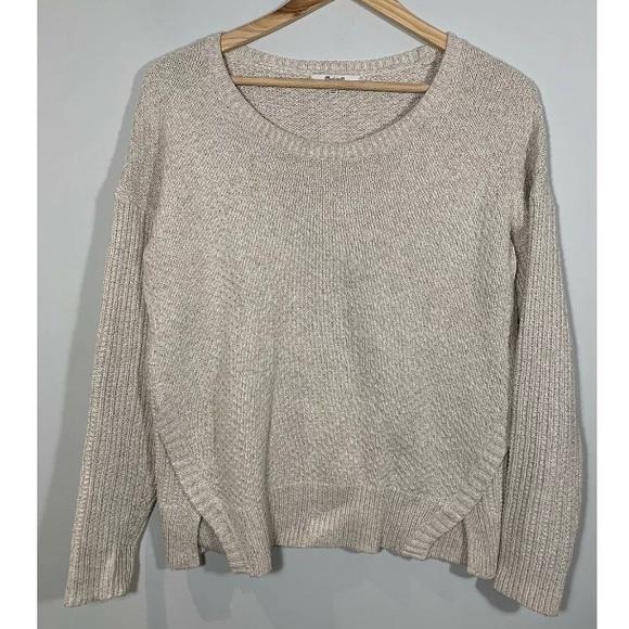 Madewell Sweater Texture Mix Oatmeal Beige
